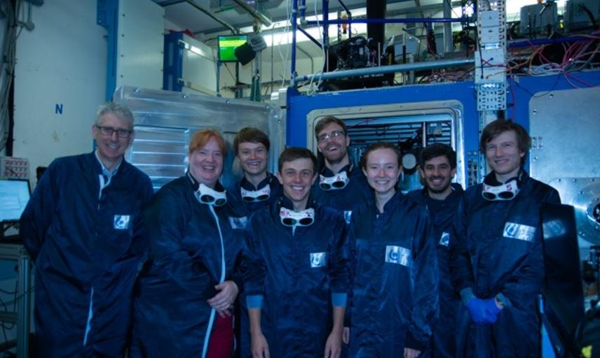 Oxford team working on Gemini at the Central Laser Facility